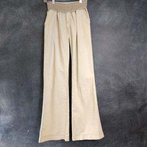 REWASH   Wide Leg Linen Smock Waist Pants Size XS